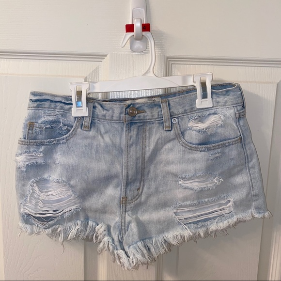 Abercrombie & Fitch Pants - Abercrombie and Fitch Destroyed Jean Shorts